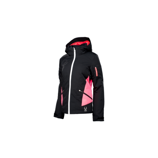 Spyder - Womens Project Jacket - Closeout Depth/Bryte Pink/White 04