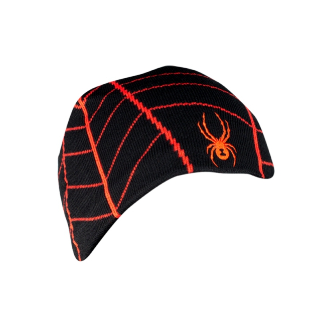 Spyder - Mens Web Hat - New Black/Volcano One Size