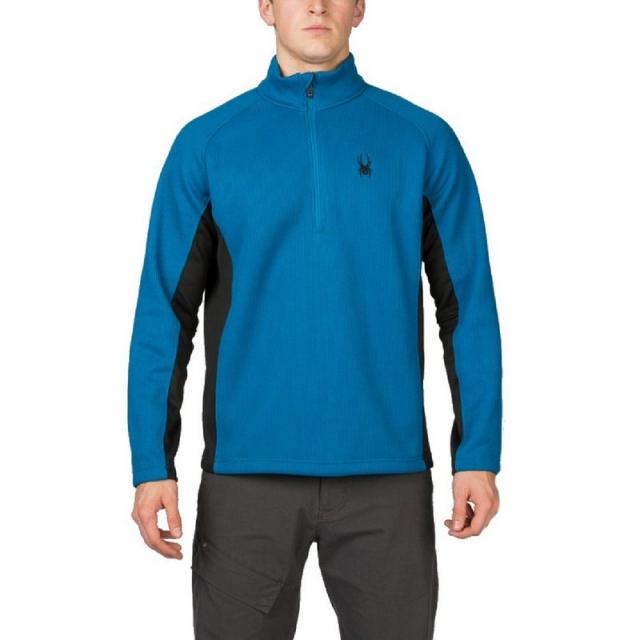 Spyder - Outbound Half-Zip Midweight Core Sweater Men's, Black/Black/Black, 3XL