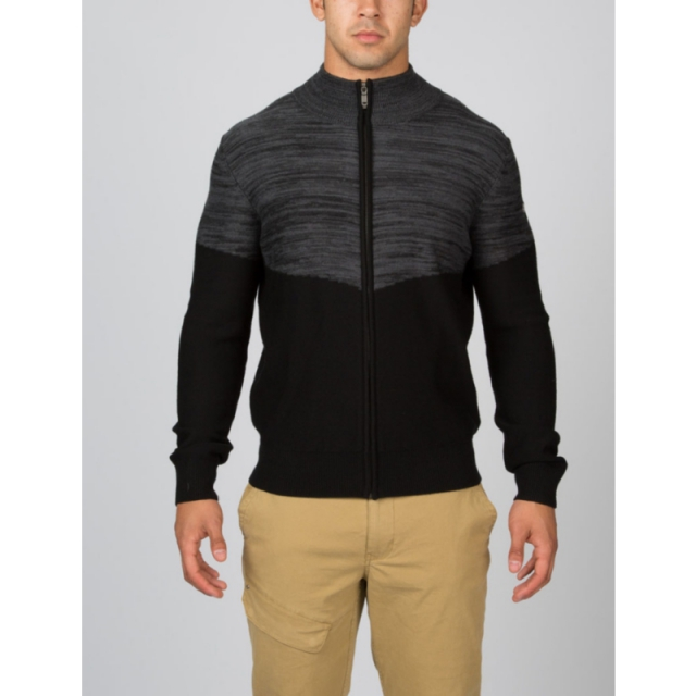 Spyder - Mens Eqyl Full Zip Sweater - Closeout Black/Polar Large