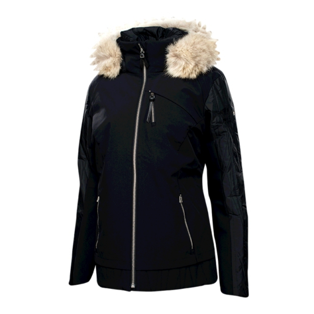 Spyder - Womens Diamond Real Fur Jacket - Closeout Black 08