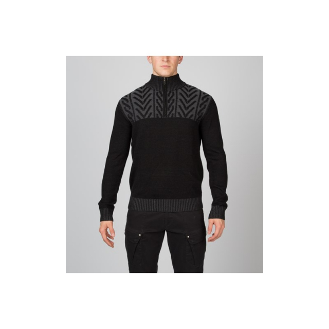 Spyder - Mens Hylo Half Zip Sweater - Closeout Black Medium