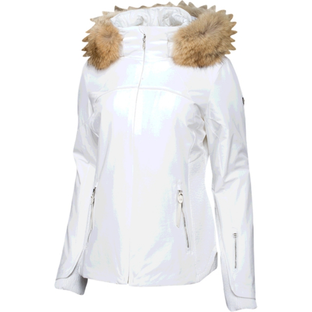 Spyder - Womens Posh Real Fur Jacket - Closeout White 06