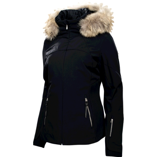 Spyder - Womens Posh Real Fur Jacket - Closeout Black 12