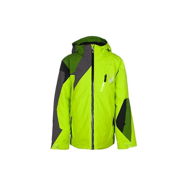 Spyder - Avenger Insulated Ski Jacket Boys', Black/Electric Blue/Polar, 10