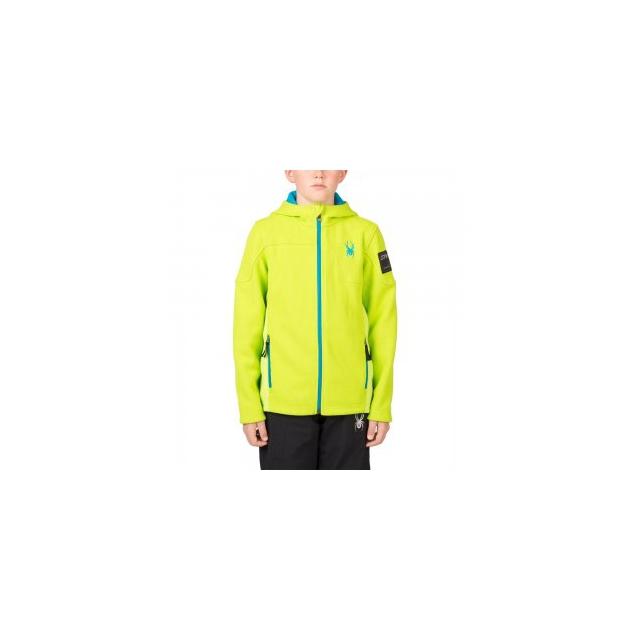 Spyder - Upward Mid Weight Core Sweater Boys', Theory Green/Black, XL