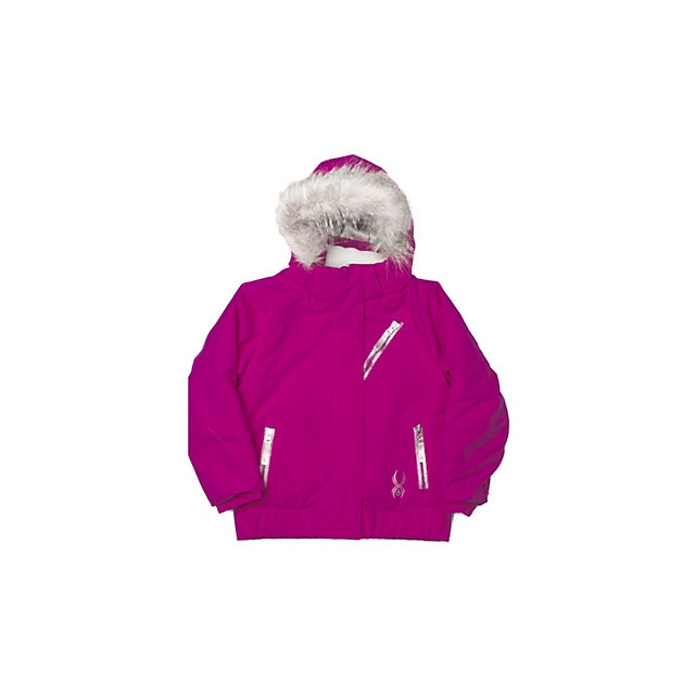 Spyder - Bitsy Lola Insulated Ski Jacket Little Girls', Bryte Bubblegum Focus/Shatter, 4