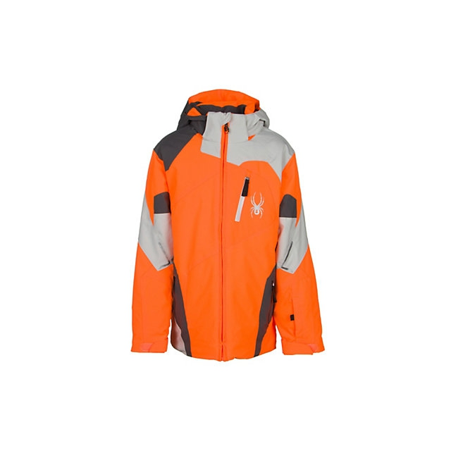 Spyder - Leader Insulated Ski Jacket Boys', Electric Blue/Black/Theory Green, 12