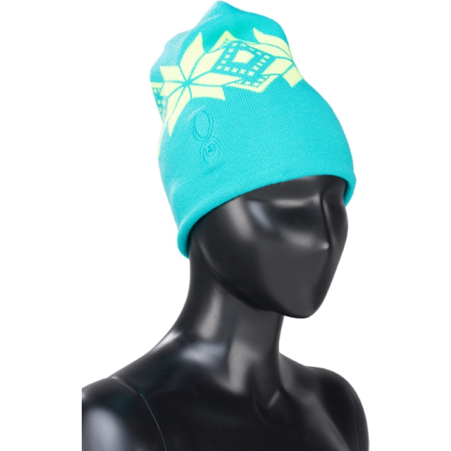 Spyder - Womens Apres Hat - Closeout Robins Egg/Bryte Yellow One Size