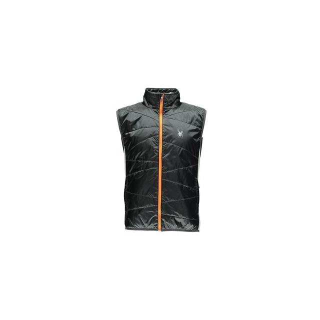 Spyder - Exit Insulated Vest Men's, Black/Black/Electric Blue, S