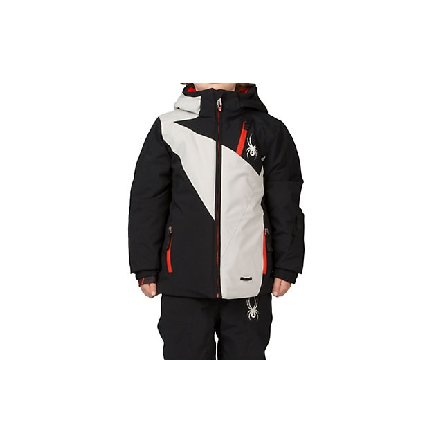 Spyder - Mini Enforcer Insulated Ski Jacket Little Boys', Black/Cirrus/Cirrus, 4