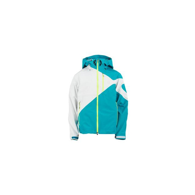 Spyder - Eiger Shell Ski Jacket Men's, Tsunami/White/Neon Green, L