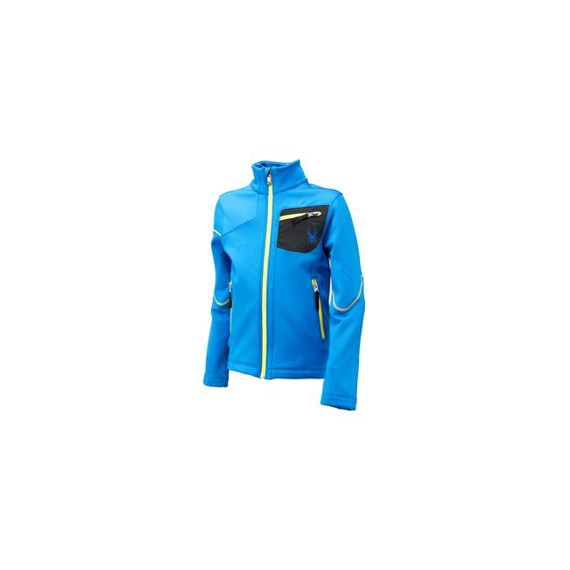 Spyder - Acceler Fleece Jacket Boys', Stratos Blue/Black/Acid, XL