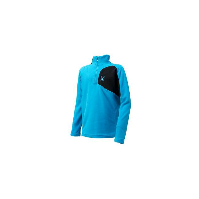 Spyder - Speed Fleece Top Boys', Electric Blue/Black, XL
