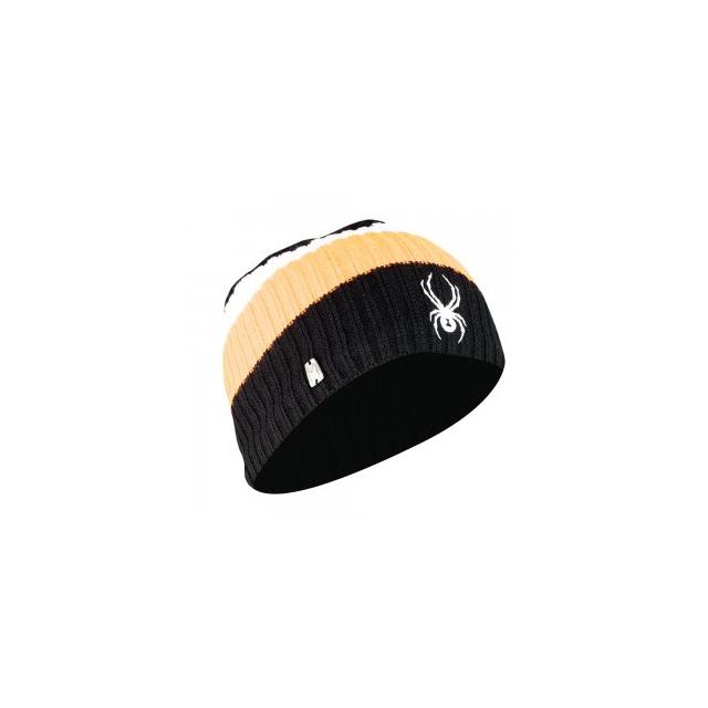 Spyder - Lounge Hat Men's, Black/Bryte Orange/White,