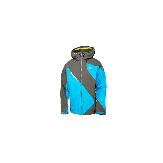 Spyder - Eiger Shell Ski Jacket Men's, Osetra/Electric Blue/Acid, M