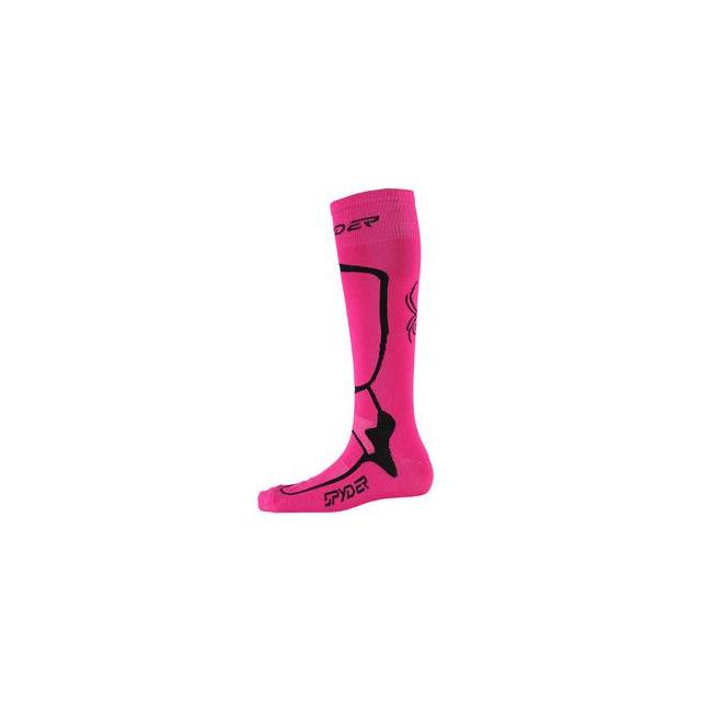 Spyder - Pro Liner Ski Sock Women's, Bryte Pink/Black, L
