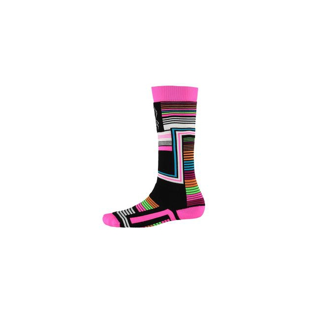 Spyder - Vybe Ski Sock Kids', Black Vybe Print, L