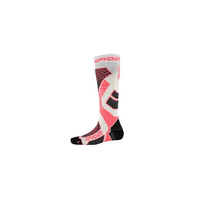 Spyder - Zenith Ski Sock Women's, White/Bryte Pink/Black, L