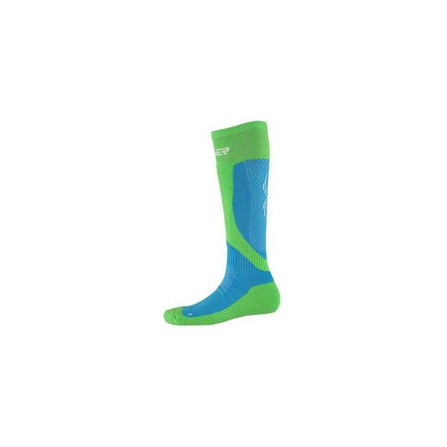 Spyder - Surprise Ski Sock Women's, Riviera/Green Flash/White, L