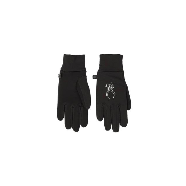 Spyder - Stretch Fleece Conduct Glove Women's, Black/Silver, L