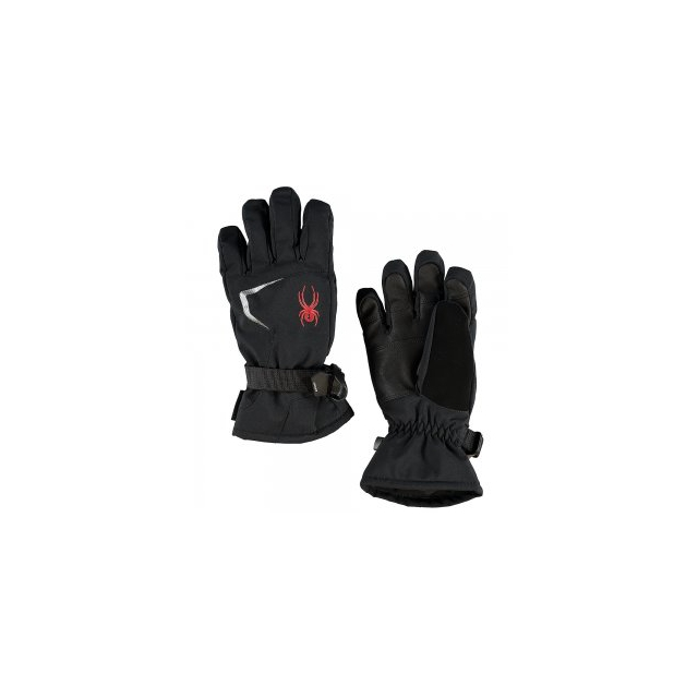 Spyder - Traverse GORE-TEX Ski Glove Boys', Black/Black/Volcano, S