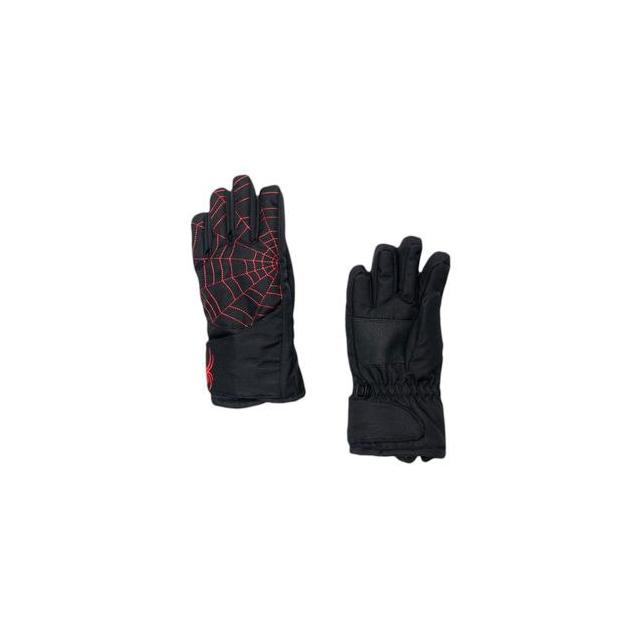 Spyder - Mini Overweb Glove Little Kids', Black/Volcano, L