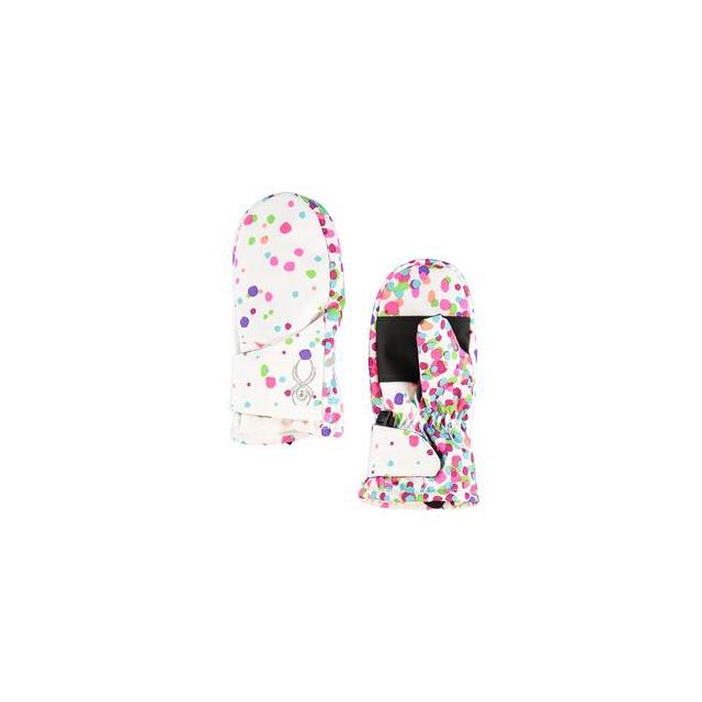 Spyder - Bitsy Cubby Mitten Little Girls', White Confetti, L