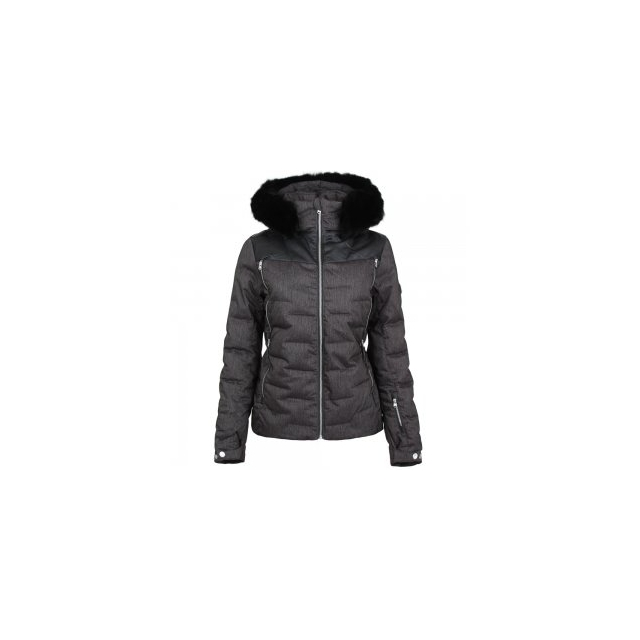 Spyder - Falline Real Fur Insulated Ski Jacket Women's, Black/Denim, 12