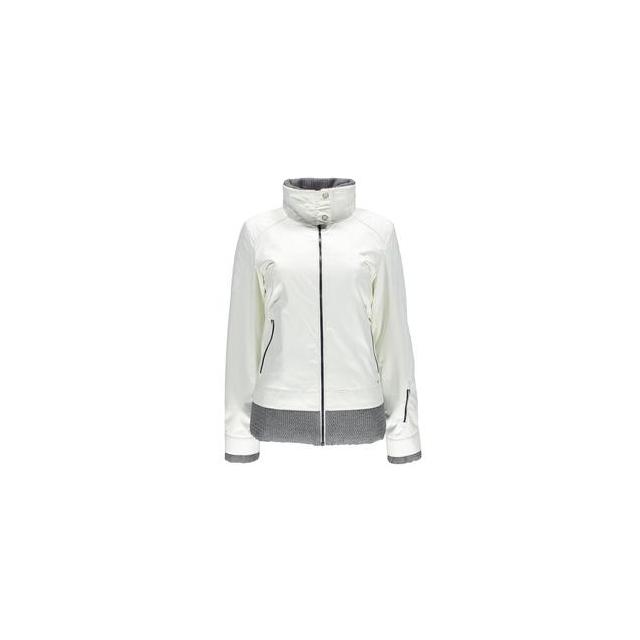 Spyder - Lovell Insulated Ski Jacket Women's, White Linen Fabric/Graystone Tech Flannel, 10
