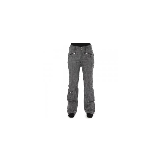 Spyder - Me Athletic Fit Insulated Ski Pant Women's, Black Linen Fabric, 16