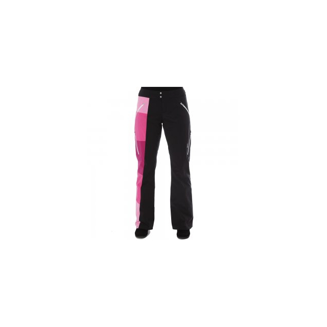 Spyder - Temerity Athletic Fit Insulated Ski Pant Women's, Black/Wild/White, 10