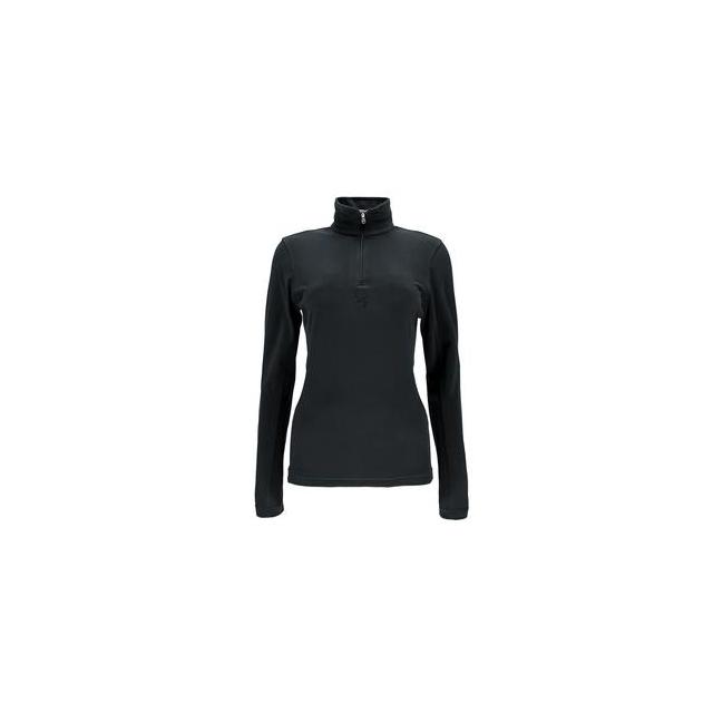 Spyder - Shimmer Bug Velour Fleece Turtleneck Mid-Layer Women's, Black, 12