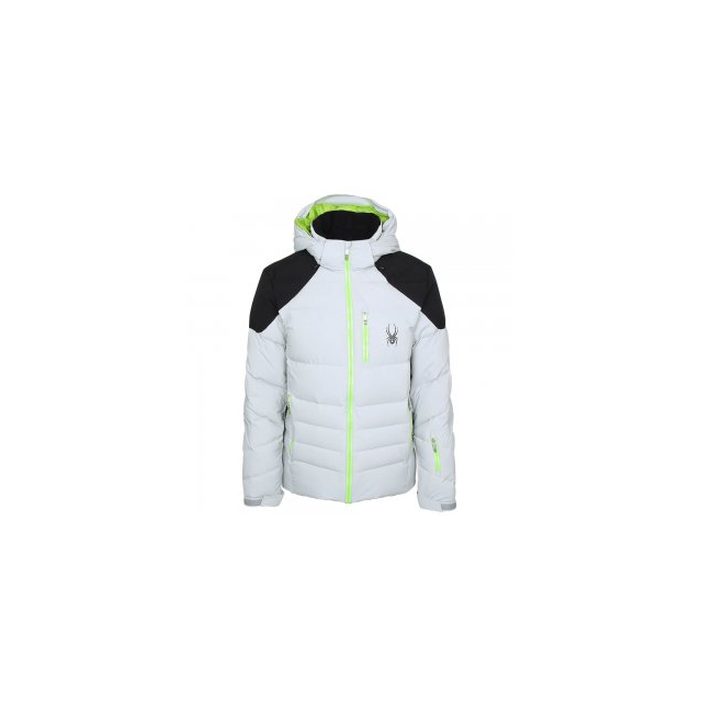 Spyder - Rocket Down Ski Jacket Men's, Cirrus/Black/Theory Green, S
