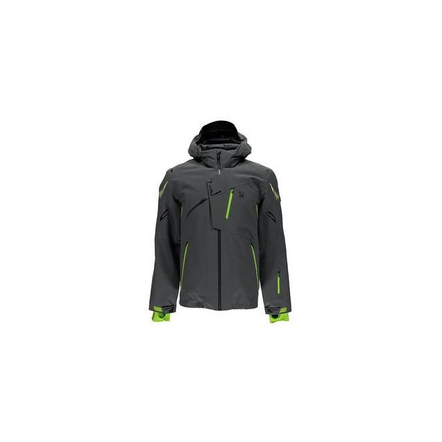 Spyder - Monterosa Insulated Ski Jacket Men's, Polar/Theory Green/Bryte Yellow, 3XL