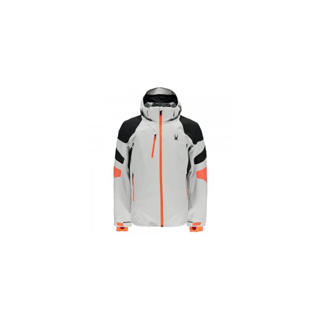 Spyder - Verbier Insulated Ski Jacket Men's, Cirrus/Polar/Bryte Orange, S