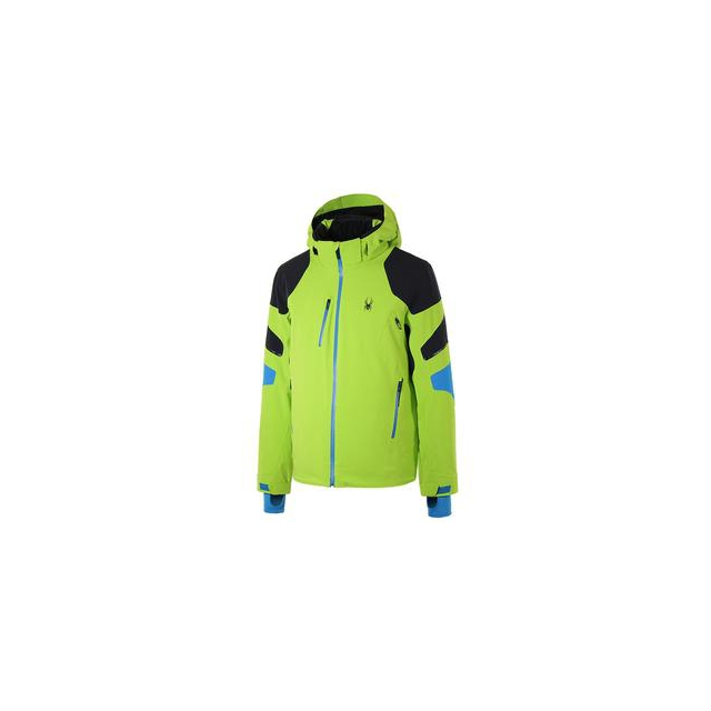 Spyder - Verbier Insulated Ski Jacket Men's, Theory Green/Black/Electric Blue, M