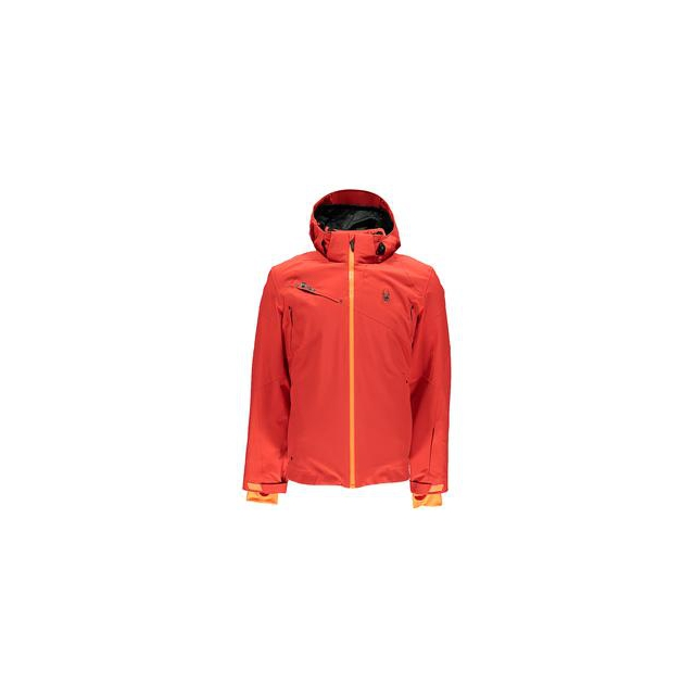 Spyder - Alyeska Insulated Ski Jacket Men's, Volcano/Bryte Orange, XXL