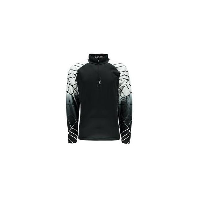Spyder - Linear Dry Web Turtleneck Mid-Layer Men's, Black/White, S