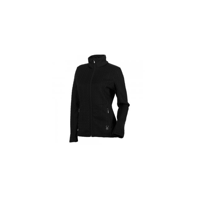Spyder - Major Cable Stryke Sweater Jacket Women's, Black, L