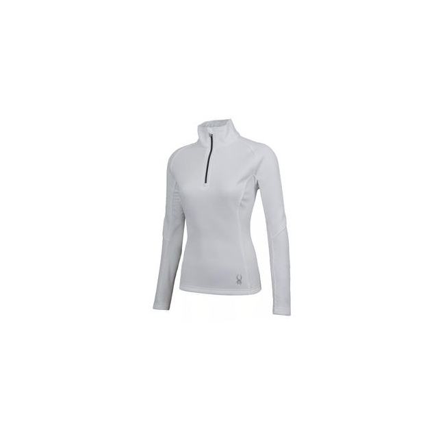 Spyder - Valor Half Zip Mid-Weight Core Sweater Jacket Women's, White/Silver, XL