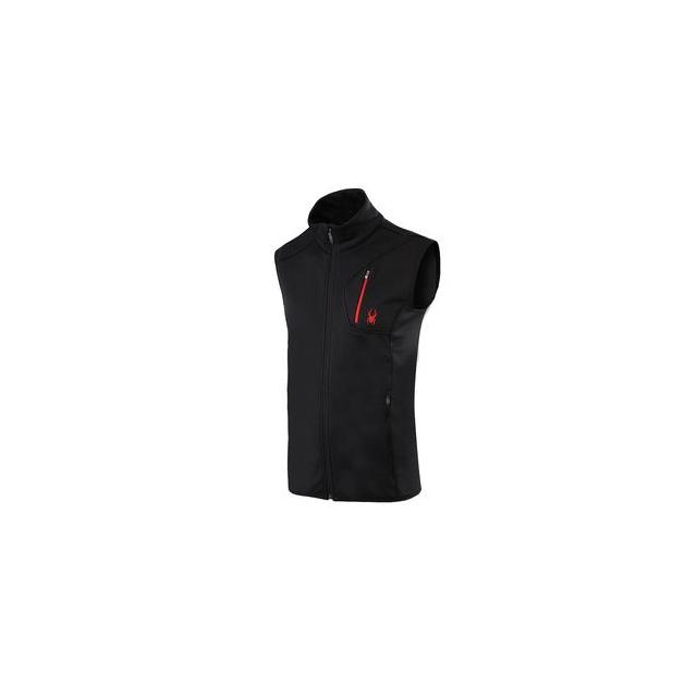 Spyder - Bandit Fleece Vest Men's, Black/Volcano, L