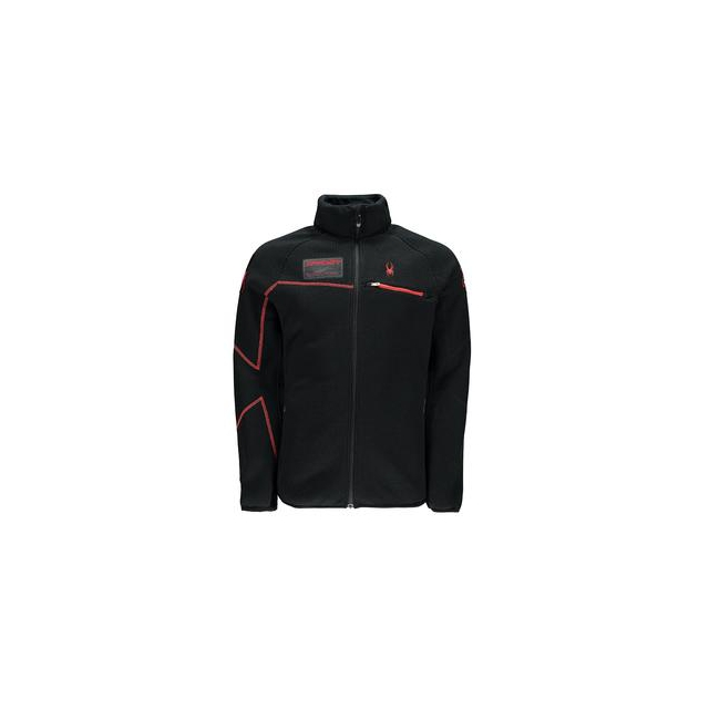 Spyder - Alps Full-Zip Midweight Core Sweater Jacket Men's, Black/Volcano, S