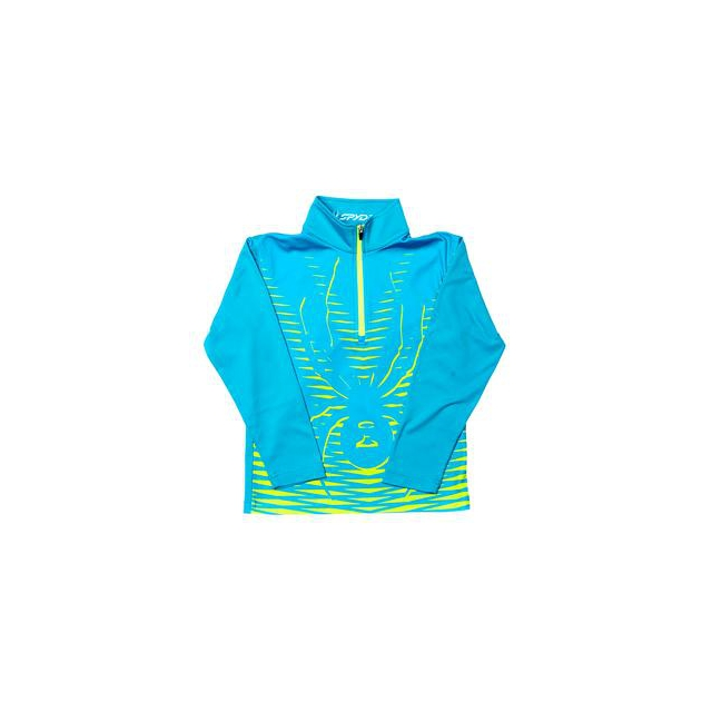 Spyder - Mini Powergrade Dry WEB Turtleneck Mid-Layer Little Boys', Electric Blue/Bryte Yellow, 3
