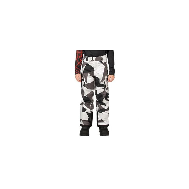 Spyder - Action Insulated Ski Pant Boys', Black Faceted Print, 18