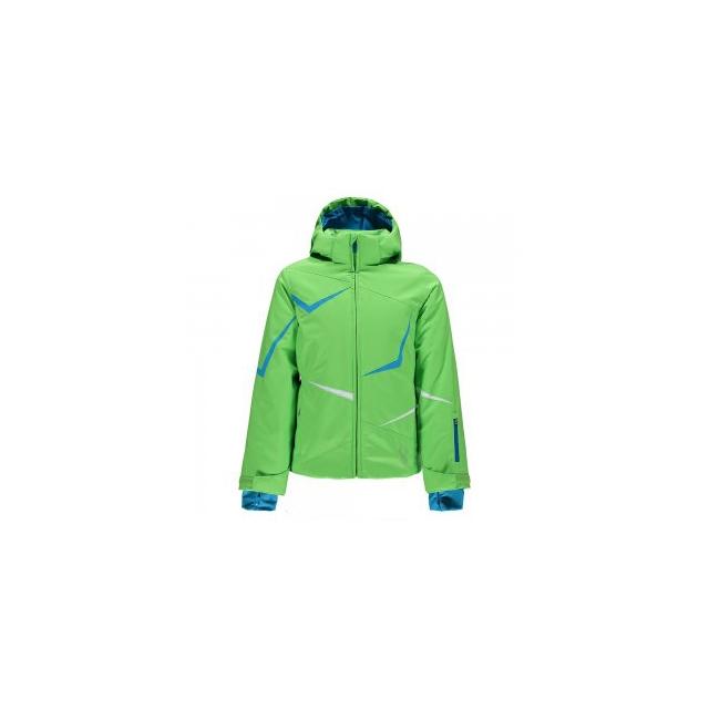 Spyder - Tresh Insulated Ski Jacket Girls', Green Flash/Riviera/White, 8