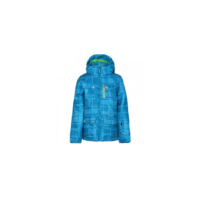 Spyder - Evar Insulated Ski Jacket Girls', Riviera Check Plaid Print/Green Flash, 14