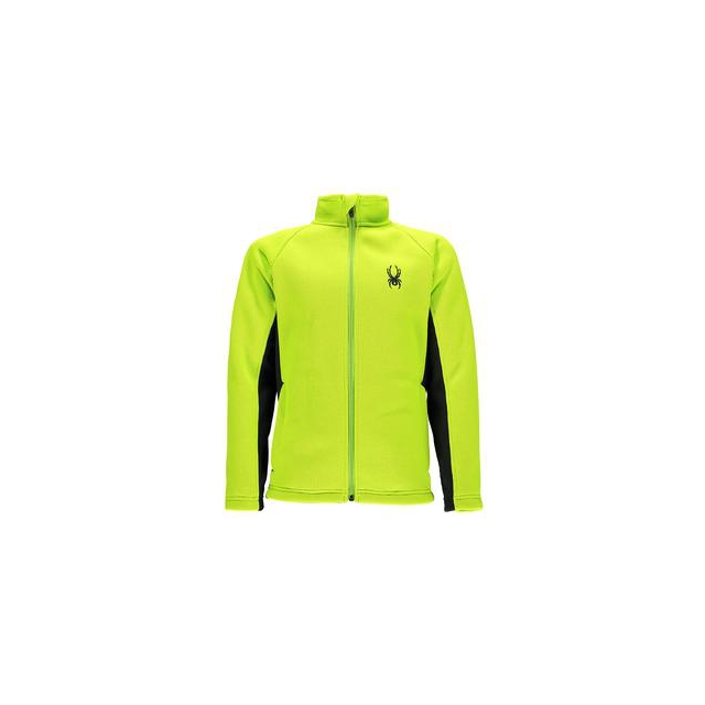 Spyder - Mini Constant Mid-Weight Core Sweater Jacket Little Boys', Theory Green/Black, XXS