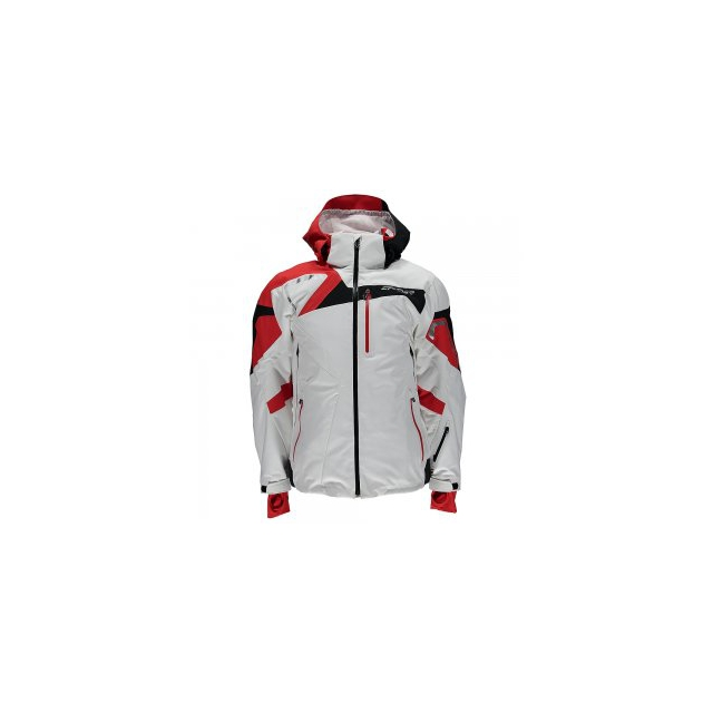 Spyder - Titan Insulated Ski Jacket Men's, White/Volcano/Black, XXL