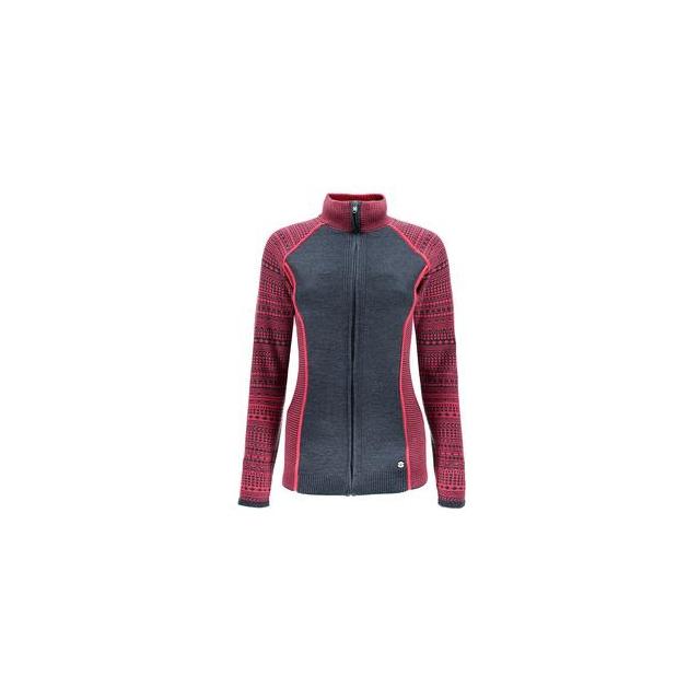 Spyder - Dessa Full Zip Sweater Jacket Women's, Depth/Bryte Pink, XL